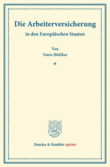 Cover: Die Arbeiterversicherung