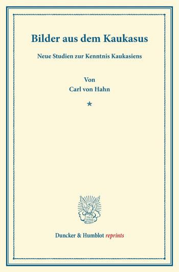 Cover: Bilder aus dem Kaukasus