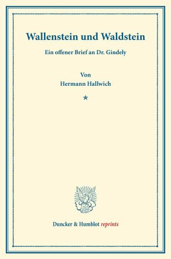 Cover: Wallenstein und Waldstein