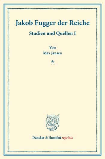 Cover: Jakob Fugger der Reiche