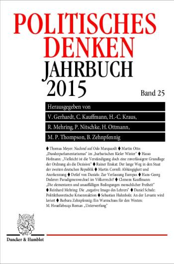 Cover: Politisches Denken. Jahrbuch 2015