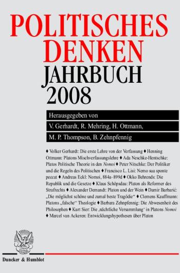 Cover: Politisches Denken. Jahrbuch 2008