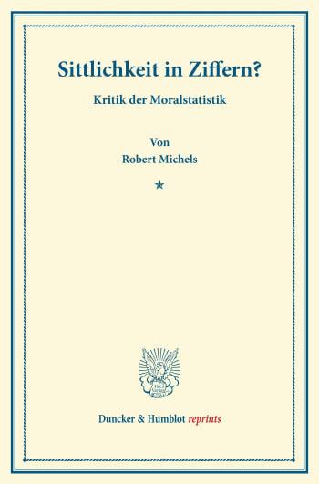 Cover: Sittlichkeit in Ziffern?