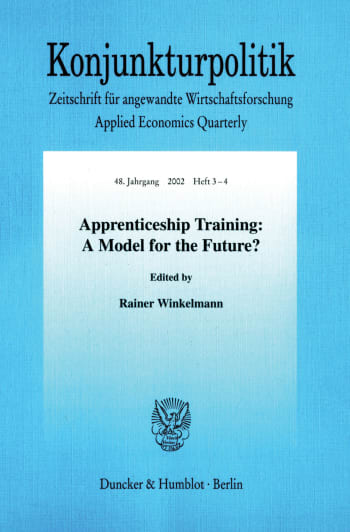 Cover: Apprenticeship Training: A Model for the Future?