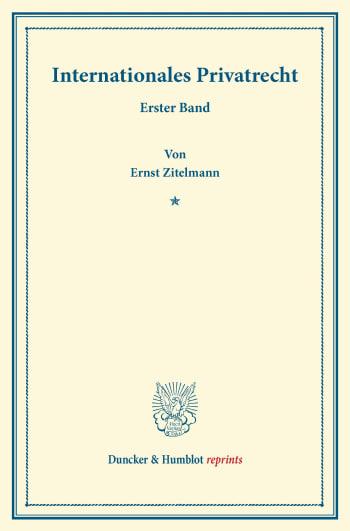 Cover: Internationales Privatrecht