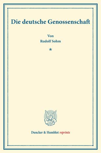 Cover: Die deutsche Genossenschaft