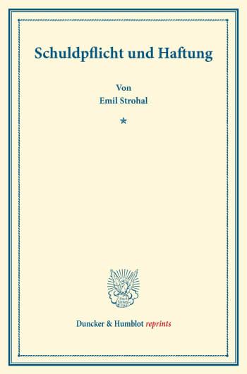 Cover: Schuldpflicht und Haftung