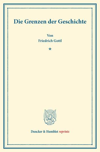 Cover: Die Grenzen der Geschichte