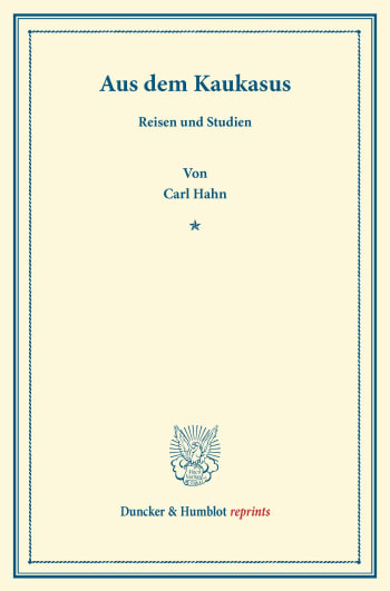 Cover: Aus dem Kaukasus