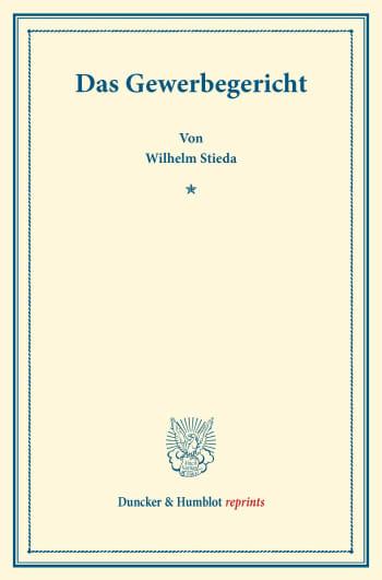 Cover: Das Gewerbegericht
