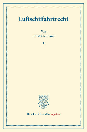 Cover: Luftschiffahrtrecht