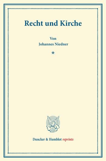 Cover: Recht und Kirche