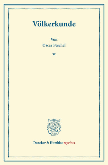 Cover: Völkerkunde