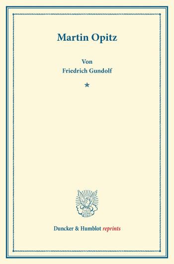 Cover: Martin Opitz