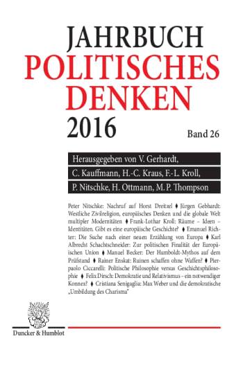 Cover: Politisches Denken. Jahrbuch 2016