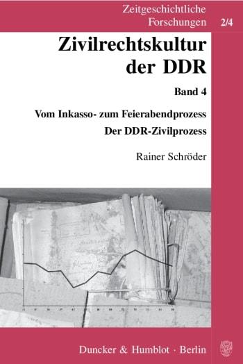 Cover: Zivilrechtskultur der DDR