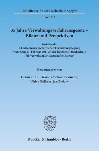 Cover: 35 Jahre Verwaltungsverfahrensgesetz – Bilanz und Perspektiven