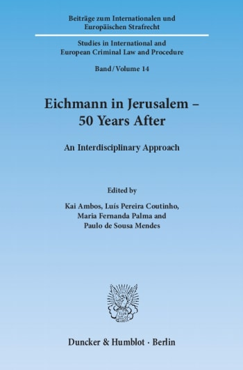 Cover: Eichmann in Jerusalem – 50 Years After