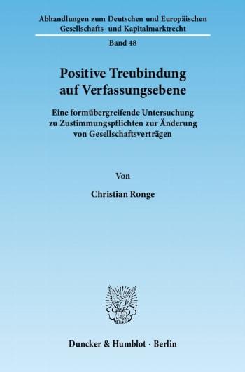 Cover: Positive Treubindung auf Verfassungsebene