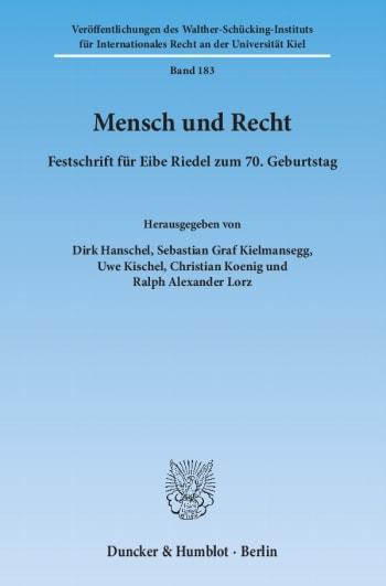 Cover: Mensch und Recht