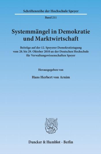 Cover: Systemmängel in Demokratie und Marktwirtschaft