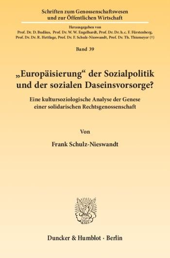 """Cover: """"Europäisierung"""" der Sozialpolitik und der sozialen Daseinsvorsorge?"""