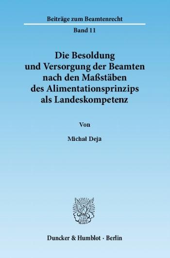 Cover: Beiträge zum Beamtenrecht (BBR)