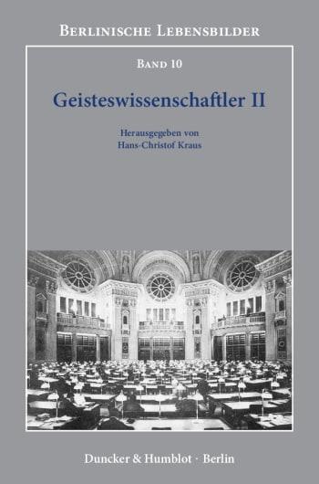 Cover: Geisteswissenschaftler II