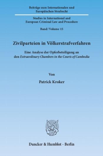 Cover: Zivilparteien in Völkerstrafverfahren