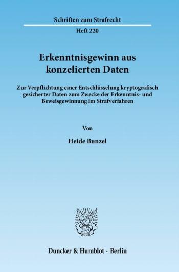 Cover: Erkenntnisgewinn aus konzelierten Daten