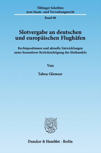 Cover: Slotvergabe an deutschen und europäischen Flughäfen
