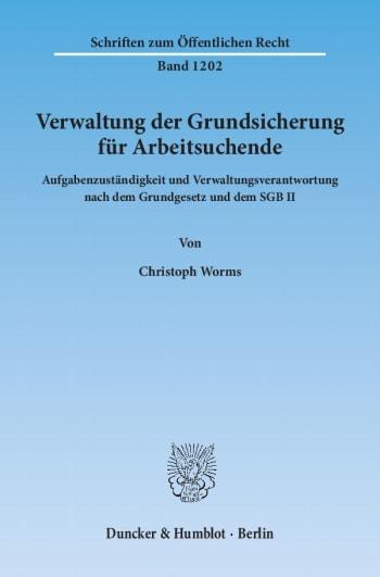 Cover: Verwaltung der Grundsicherung für Arbeitsuchende