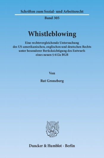 Cover: Whistleblowing