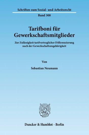 Cover: Tarifboni für Gewerkschaftsmitglieder