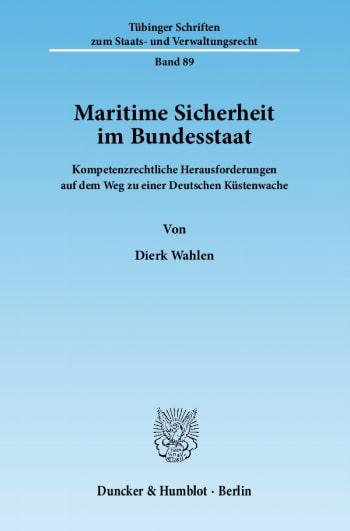 Cover: Maritime Sicherheit im Bundesstaat