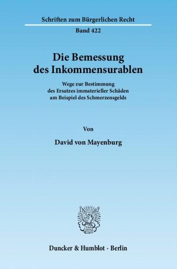 Cover: Die Bemessung des Inkommensurablen