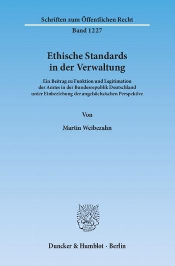 Cover: Ethische Standards in der Verwaltung