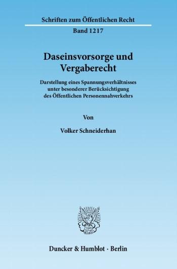 Cover: Daseinsvorsorge und Vergaberecht