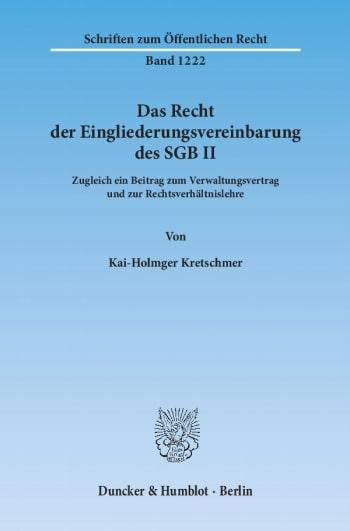 Cover: Das Recht der Eingliederungsvereinbarung des SGB II