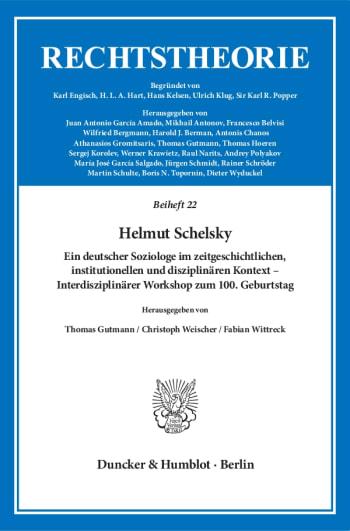 Cover: Helmut Schelsky