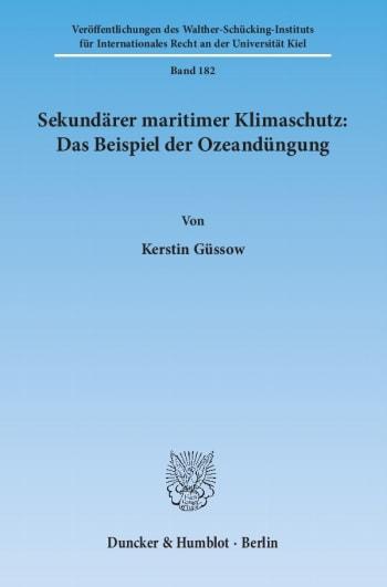 Cover: Sekundärer maritimer Klimaschutz: Das Beispiel der Ozeandüngung