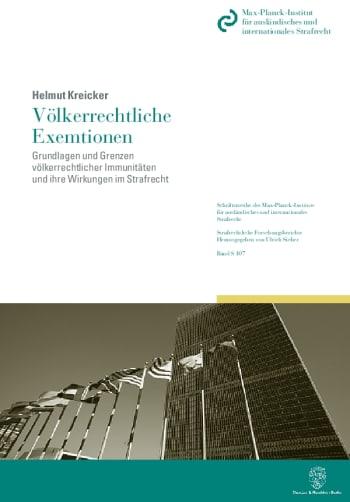 Cover: Völkerrechtliche Exemtionen