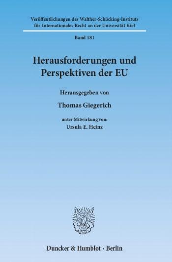 Cover: Herausforderungen und Perspektiven der EU