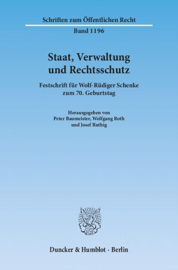 Cover: Staat, Verwaltung und Rechtsschutz