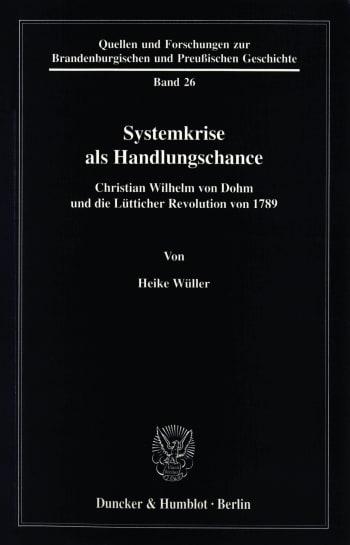 Cover: Systemkrise als Handlungschance