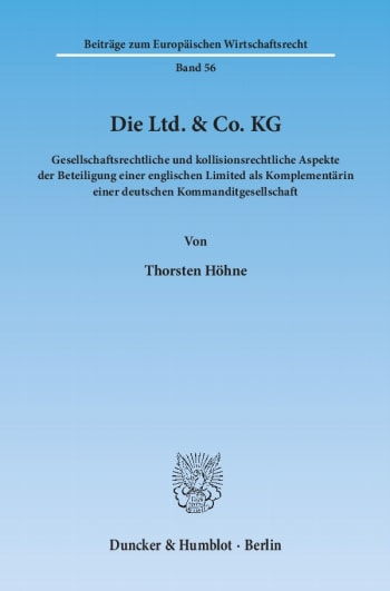 Cover: Die Ltd. & Co. KG