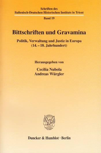 Cover: Bittschriften und Gravamina