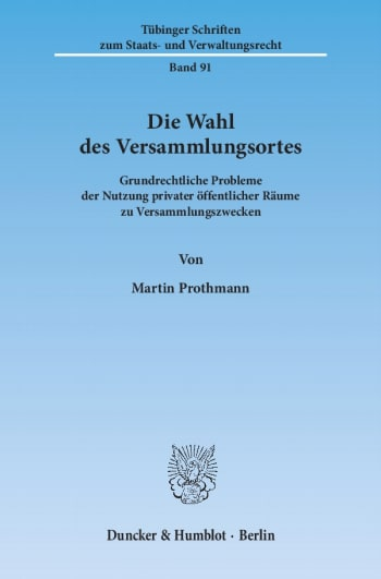 Cover: Die Wahl des Versammlungsortes