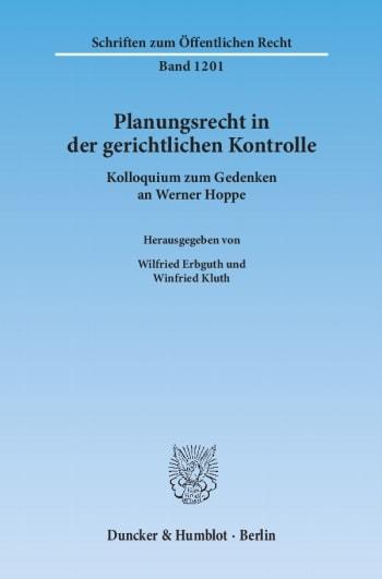 Cover: Planungsrecht in der gerichtlichen Kontrolle