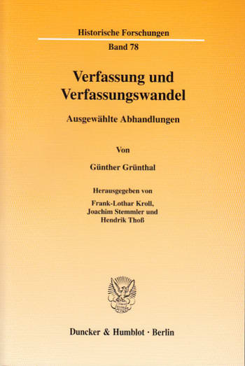 Cover: Verfassung und Verfassungswandel
